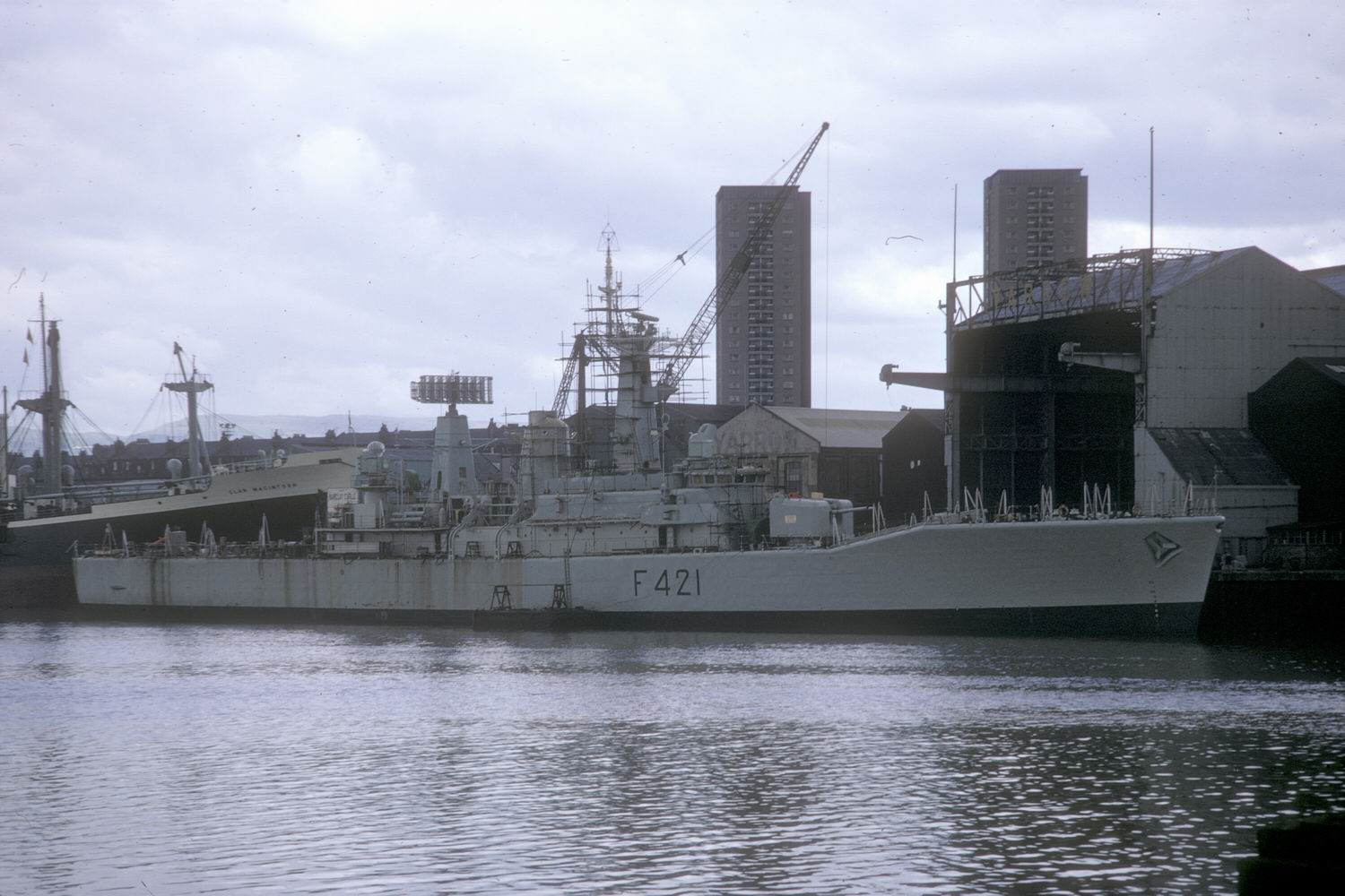 Steam Turbine CANTERBURY built by Yarrow Shipbuilders Ltd  in 1971