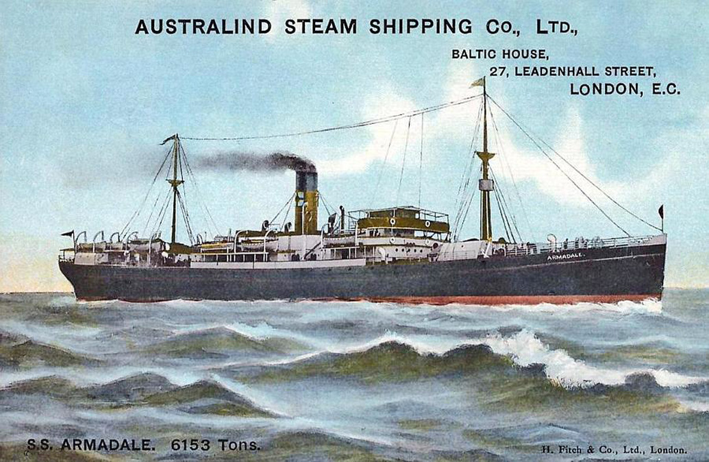 Screw Steamer ARMADALE built by Charles Connell & Company in